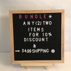 BUNDLE 2 ITEMS for 10% Discount/ $4.99 shp